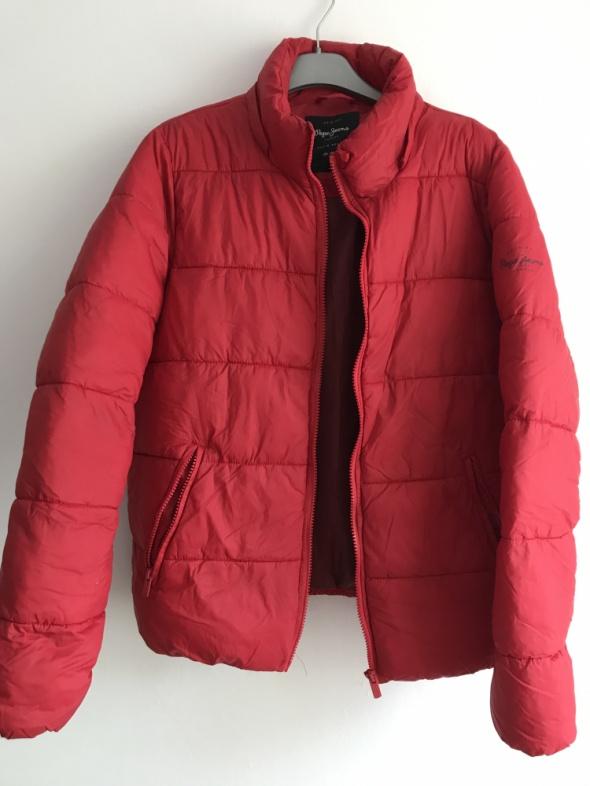 Kurtka Pepe Jeans puchowa ciepła zimowa czerwona L...