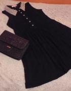 Koronkowa czarna sukienka perełki...
