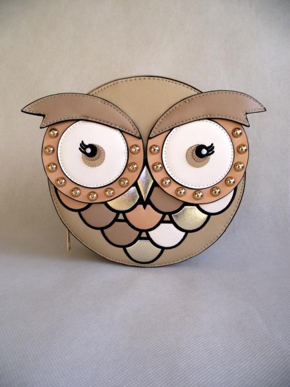 Nowa niezwykle oryginalna okrągła torebka na ramię SOWA