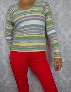 Bawełniany sweterek sweter w paski Next...