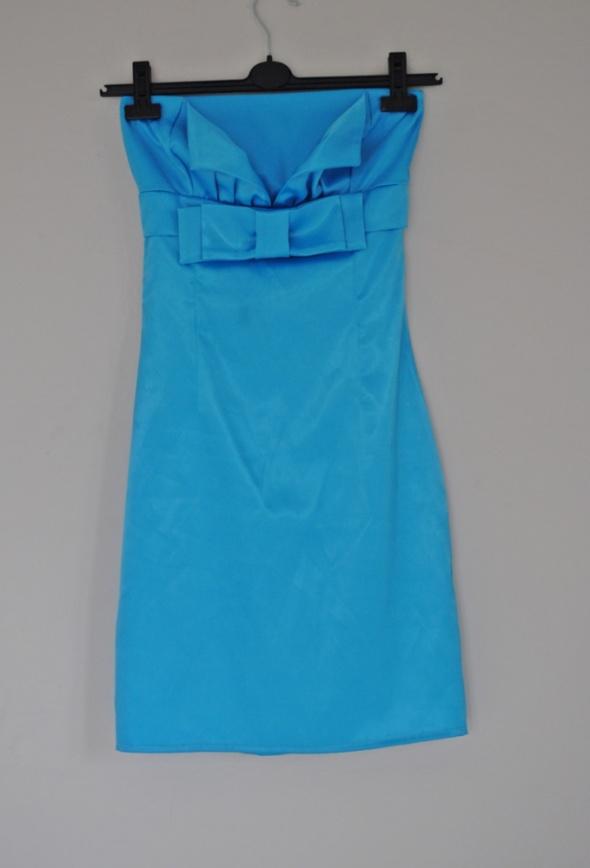 24f972166f98 niebieska sukienka kokarda s m w Suknie i sukienki - Szafa.pl