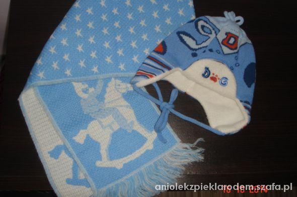 czapka i szalik NOWY KOMPLET