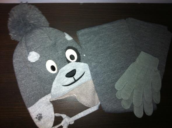 3 częściowy czapka szalik rękawiczki JAK NOWY...