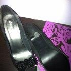 czarne open toe 38 NOWE