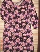 sukienka tunika floral kwiaty...