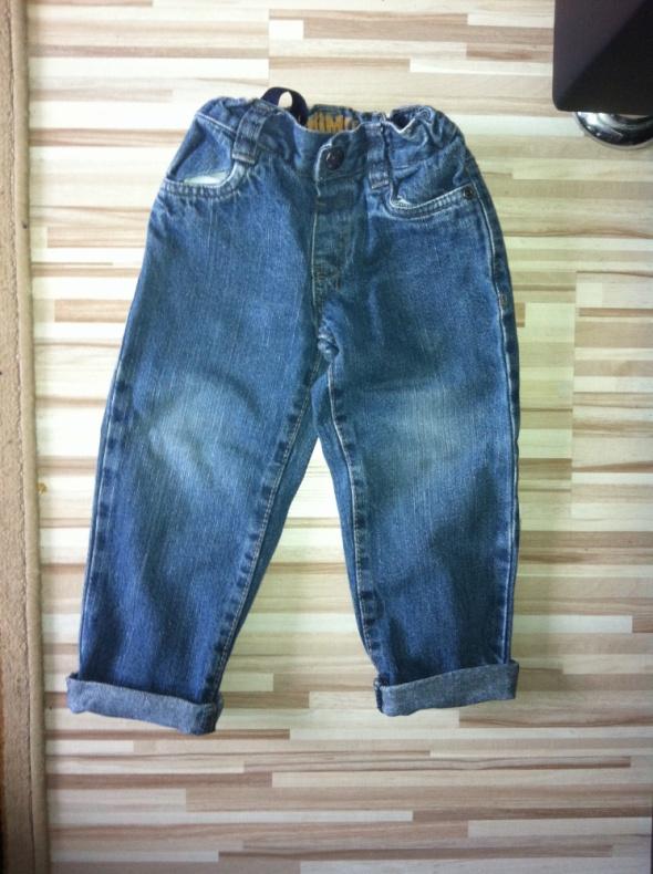 jeansy prosta wywijana nogawka 92 98