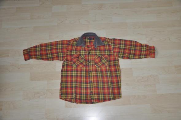 koszula kołnierzyk guziki krata kratka 104 110 HM