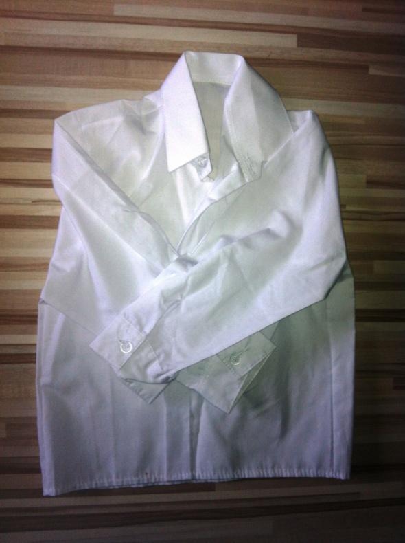 Koszulki, podkoszulki biała elegancka koszula biel 92 98 śnieżnobiała