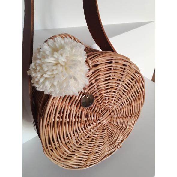 Wiklinowa torebka koszyczek Handmade Must have...
