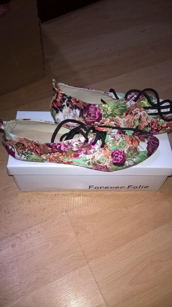 Buty floral nowe 37