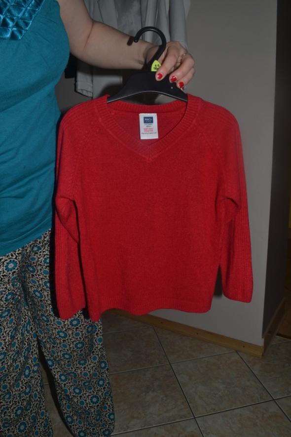 Sweterek czerwony M&Co 2 3 lata 98cm 104cm