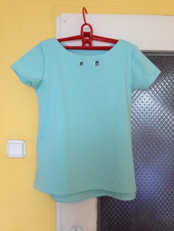 Bluzka koszulka miętowa bawełniana S M L 36 38 40...