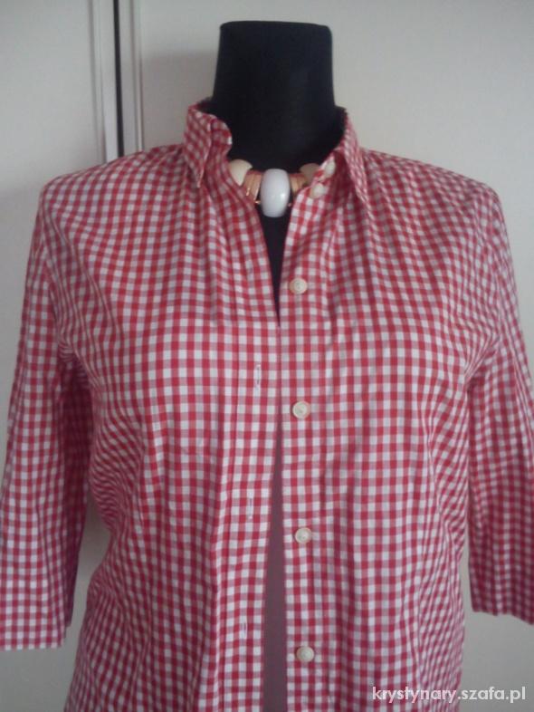 koszula czerwono biała krateczka