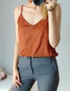 New Look top na ramiaczkach z imitacji zamszu...