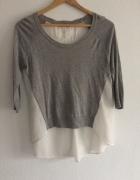 Sweter biało szary Orsay rozm 36 S...