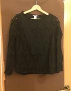 Sweter bluza czarna koronka H&M r S 36...