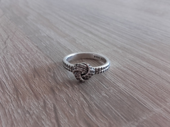 Pandora oryginalny srebrny pierścionek węzeł miłości S925 ALE 5...
