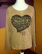 Brązowa bluza z sercem...