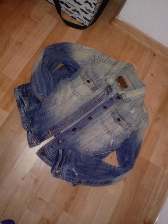 jeansowa katana z przetarciami...