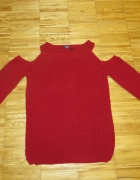 COLD SHOULDER JUMPER Sweter red......