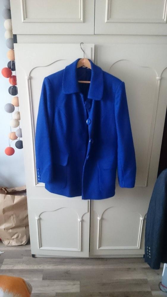 kobaltowy płaszczyk 46