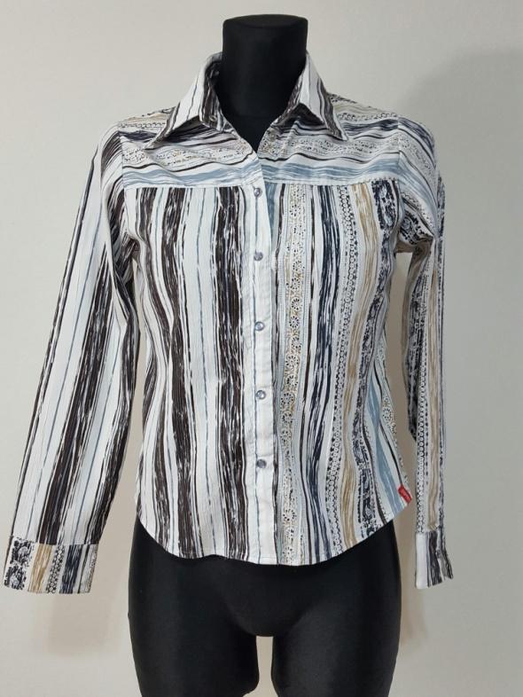biała koszula z wzorami Esprit