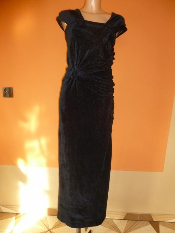 64eec505f0 Czarna gotycka aksamitna sukienka m w Suknie i sukienki - Szafa.pl