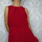 Czerwona delikatna zwiewna sukienka mgiełka New Look