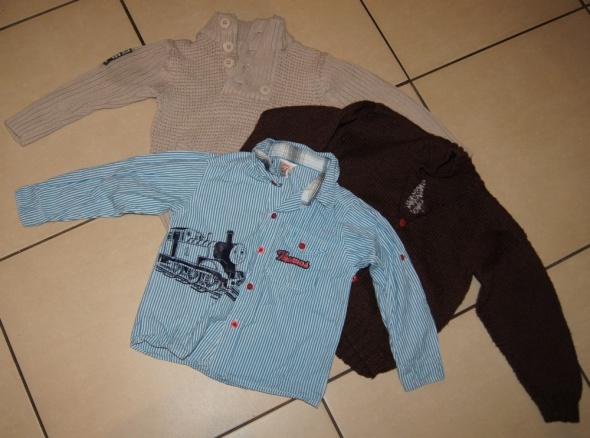 Zestaw chłopiec koszula sweterki Tomek 98