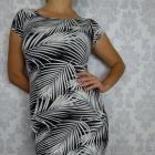 Krótka mini sukienka dopasowana print w liście Forever21