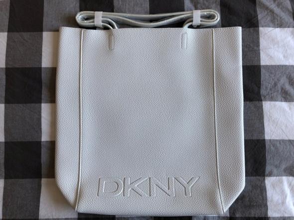 DKNY biała torebka shopper