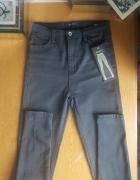 Nowe spodnie jeansy rurki wysoki stan...
