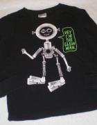 czarna bluzka Bodyzone szkielet...