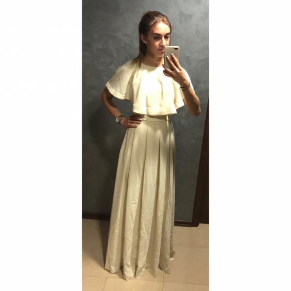 NOWA Sukienka maxi suknia długa falbana hiszpanka S 36 Asos