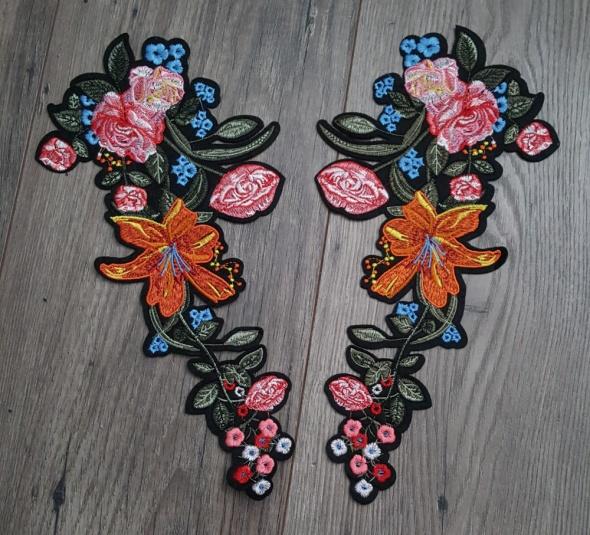 naszywki kwiaty floral