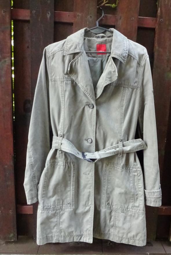 Płaszcz trencz S Oliver oliwkowy zielony khaki...