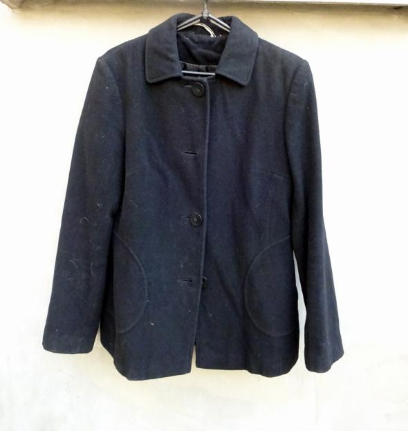 Flauszowa polarowa czarna kurtka żakiet marynarka George 38...