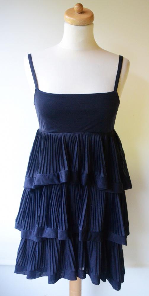 0027f3dba5 Sukienka Granatowa Falbanki HM S 36 Granat w Suknie i sukienki ...