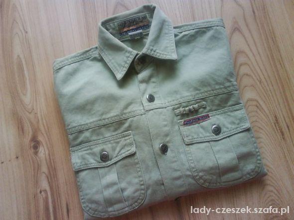 Koszulki, podkoszulki zielona dżinsowa koszula chłopięca 122 128 134