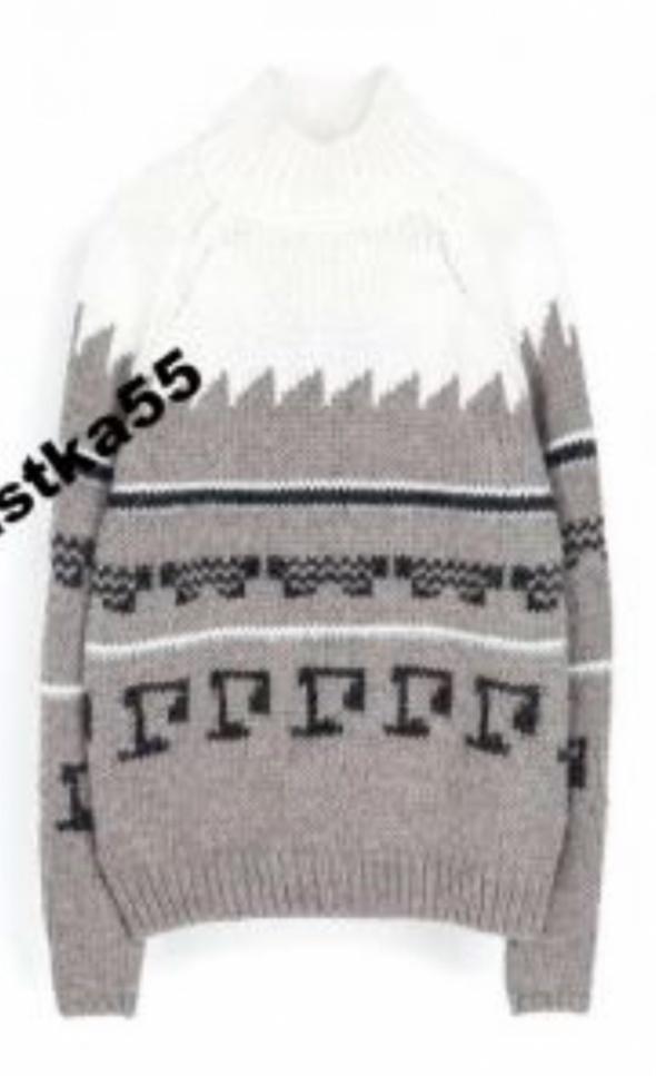 Sweter zara knit Kasia Tusk welna...