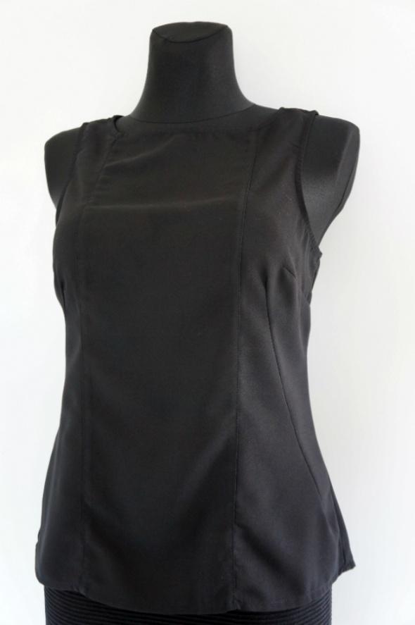 Minimalistyczny czarny top bluzka Camaieu L...