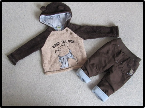 Zestaw C&A spodnie i sweter bluza z kapturem 68