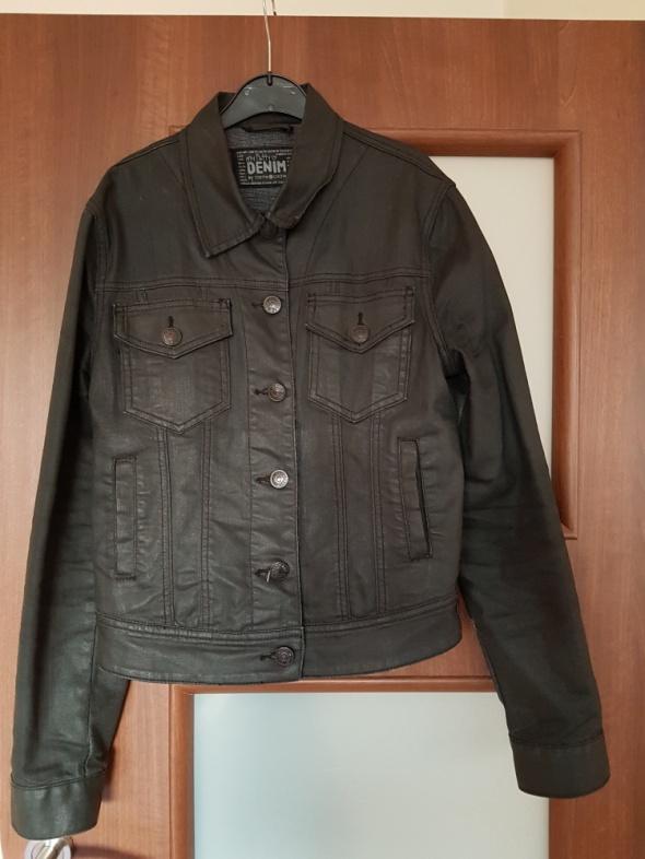 kurtka dżinsowa czarna woskowana...