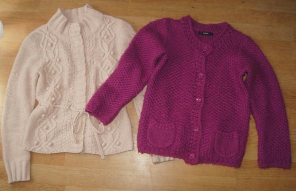 Swetry sweterki cudne cieplutkie rozm 134