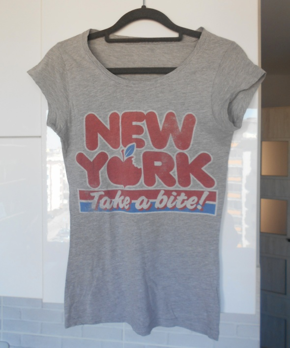 Topshop koszulka z nadrukiem new york tshirt retro...