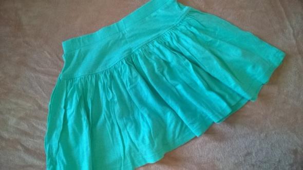 Zielona spódniczka lambadówka r 128 bawełna modal pastelowa...