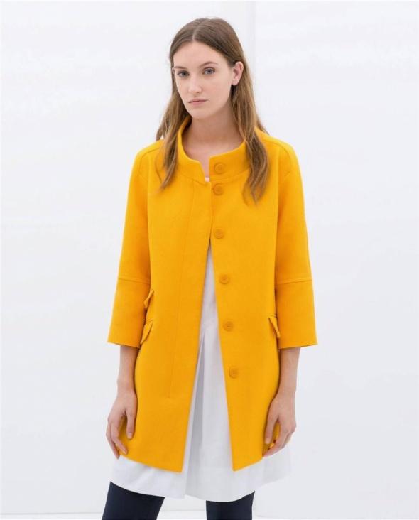 ZARA żółty płaszcz XL