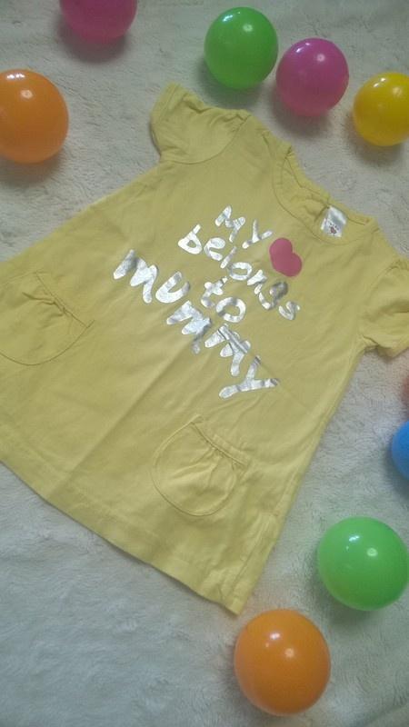 Tshirt long tunika C&A z kieszeniami z nadrukiem