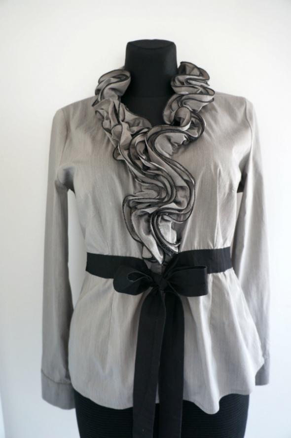 Elegancka szara bluzka z odzobnym dekoltem 42...