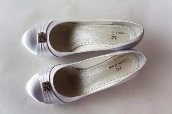 Ślubne baleriny Mark Shoes 39 nowe buty ślubne